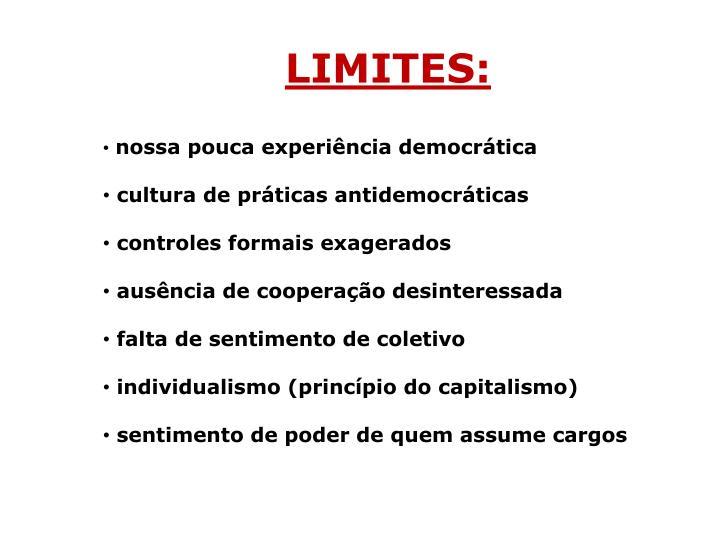 LIMITES: