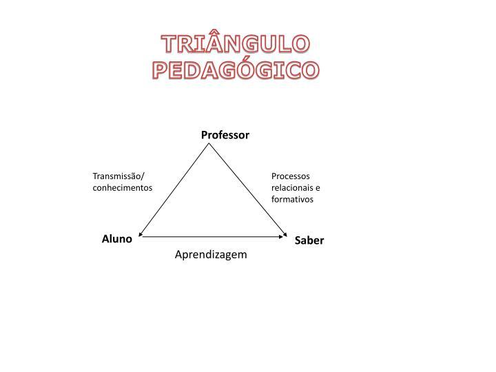 TRIÂNGULO PEDAGÓGICO