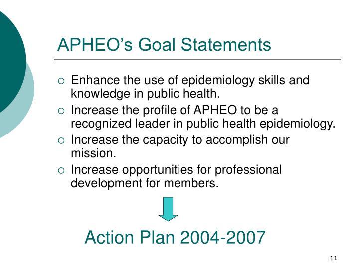 APHEOs Goal Statements