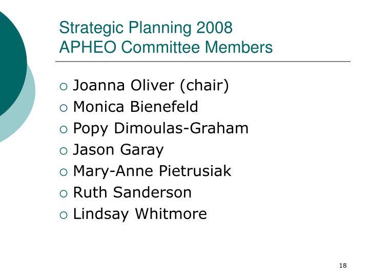 Strategic Planning 2008