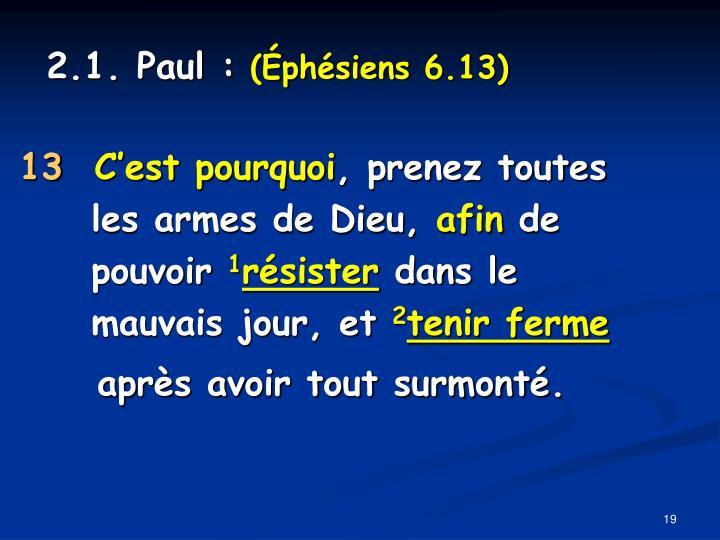 2.1. Paul :