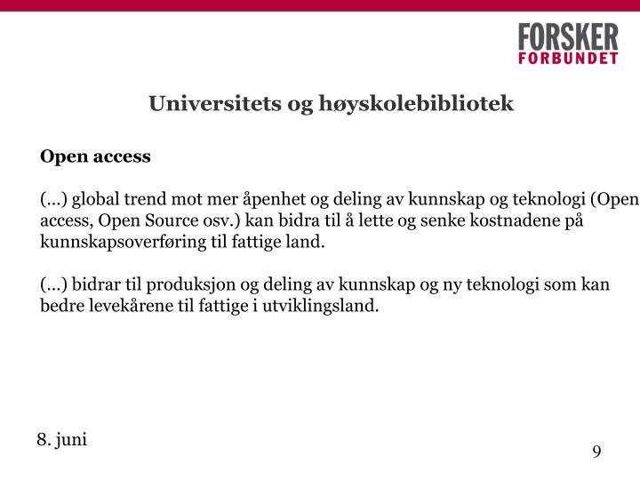 Universitets og høyskolebibliotek