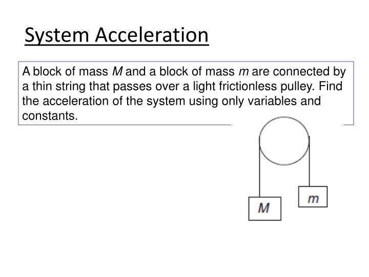 System Acceleration