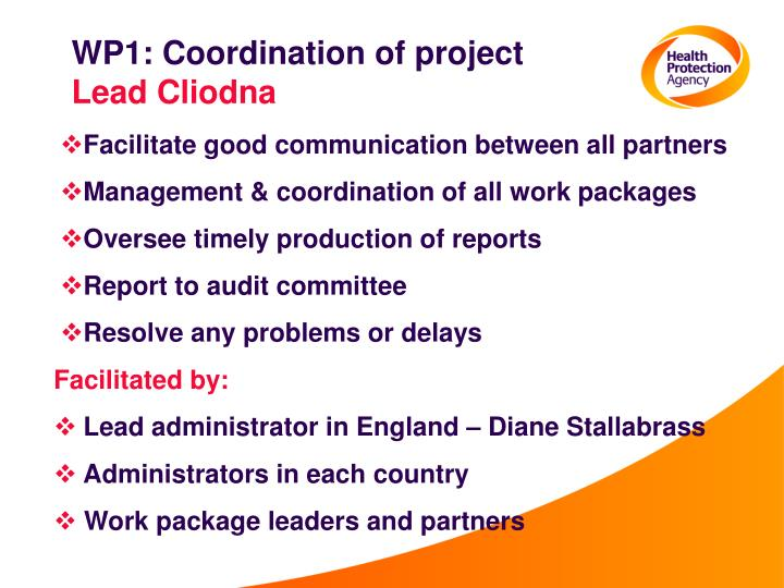 WP1: Coordination of project
