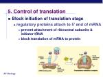 5 control of translation