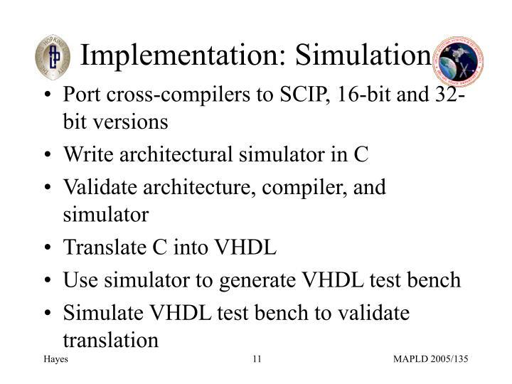 Implementation: Simulation
