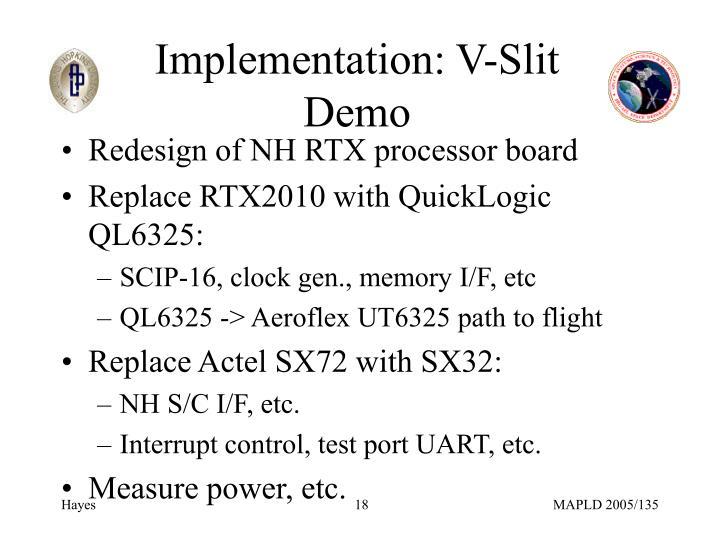 Implementation: V-Slit Demo