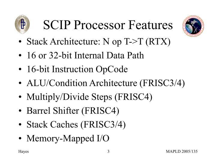 SCIP Processor Features