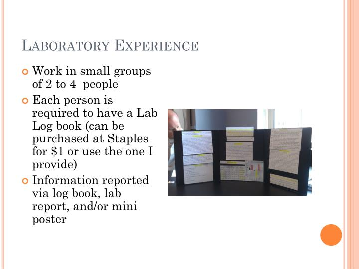 Laboratory Experience