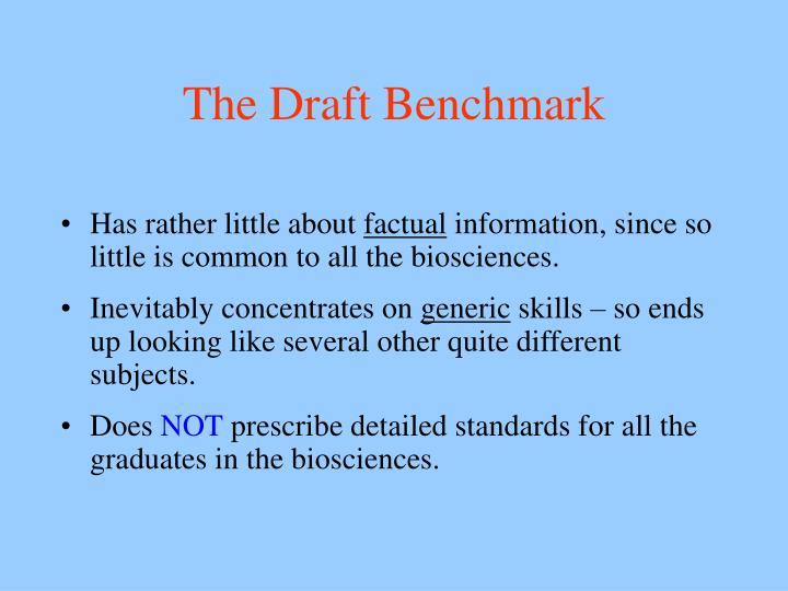 The Draft Benchmark