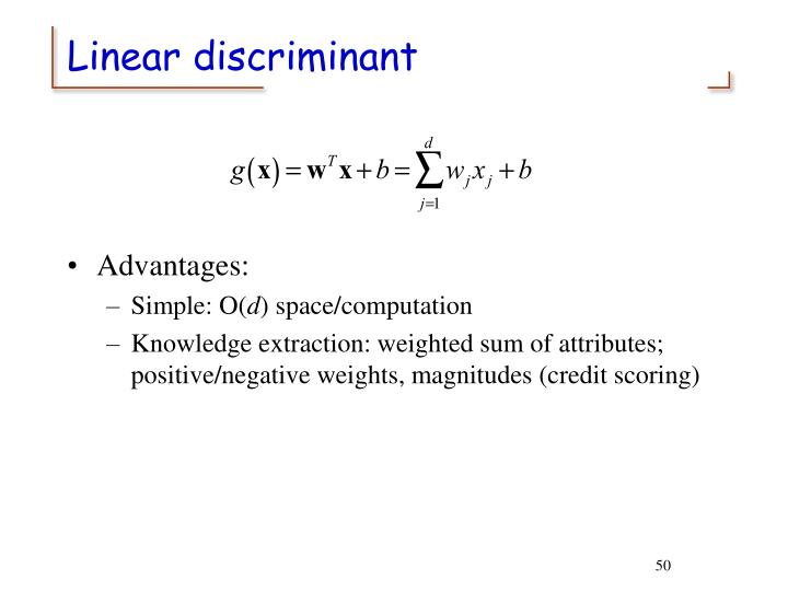 Linear discriminant