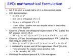 svd mathematical formulation