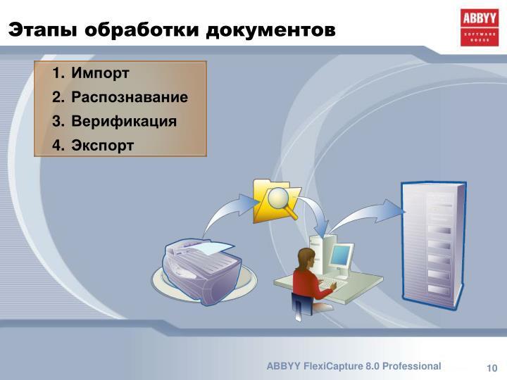 Этапы обработки документов
