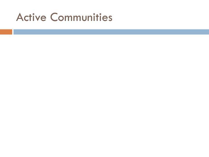 Active Communities