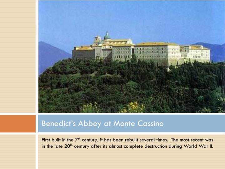 Benedict's Abbey at Monte Cassino