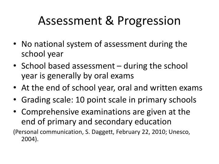Assessment & Progression