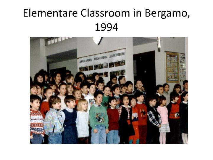 Elementare Classroom in Bergamo, 1994