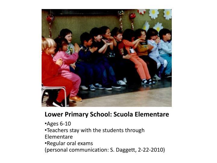 Lower Primary School: Scuola Elementare