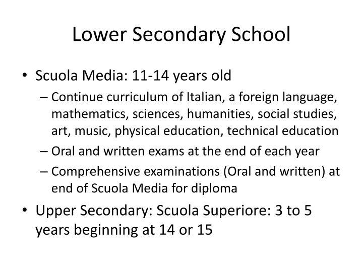 Lower Secondary School