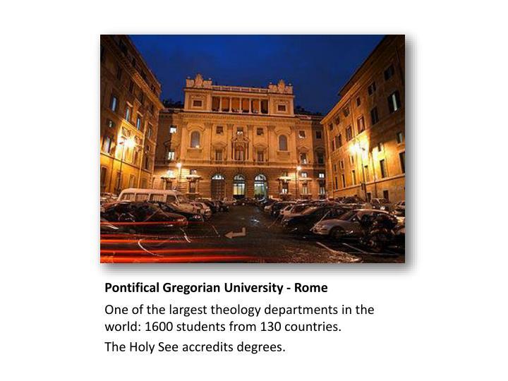 Pontifical Gregorian University - Rome