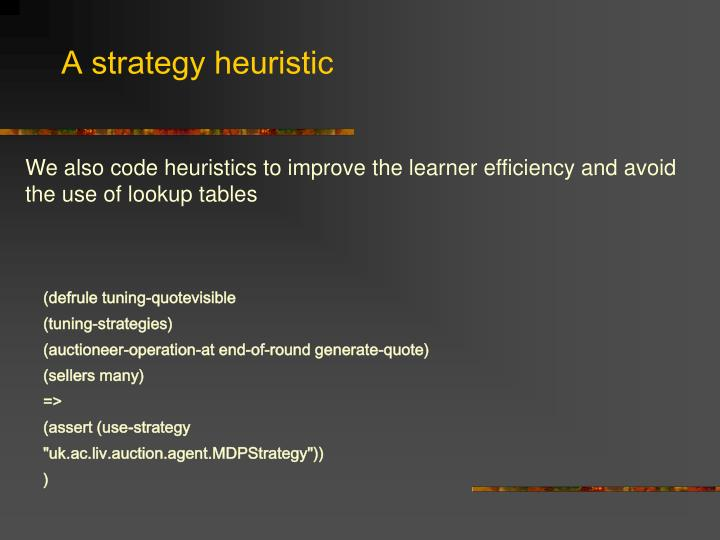 A strategy heuristic