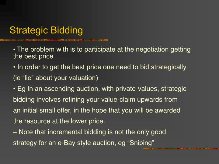 Strategic Bidding