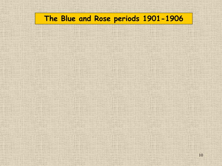 The Blue and Rose periods 1901-1906