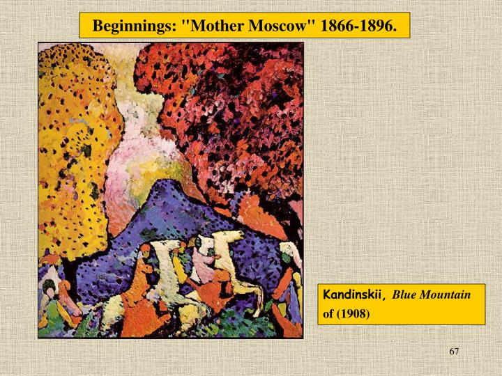 "Beginnings: ""Mother Moscow"" 1866-1896."