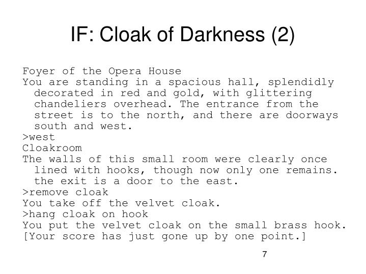 IF: Cloak of Darkness (2)