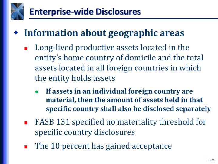 Enterprise-wide Disclosures