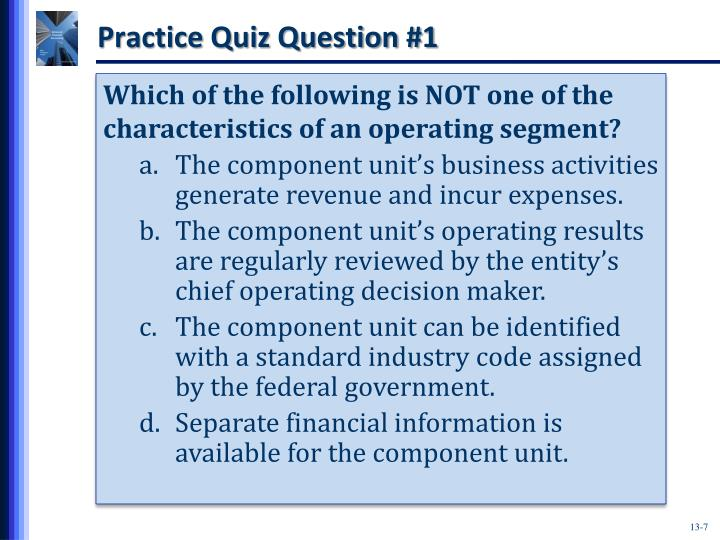 Practice Quiz Question #1