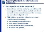 reporting standards for interim income statements2