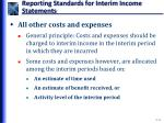 reporting standards for interim income statements3