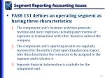 segment reporting accounting issues1