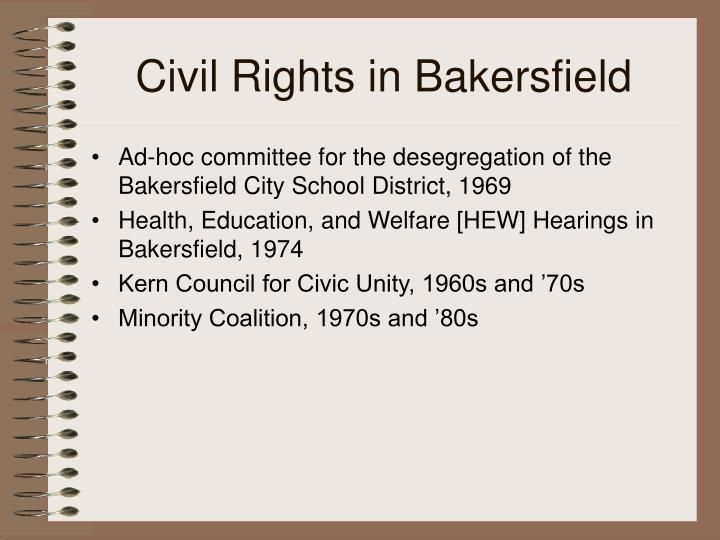 Civil Rights in Bakersfield