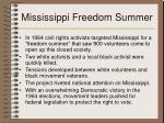 mississippi freedom summer
