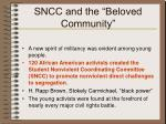 sncc and the beloved community