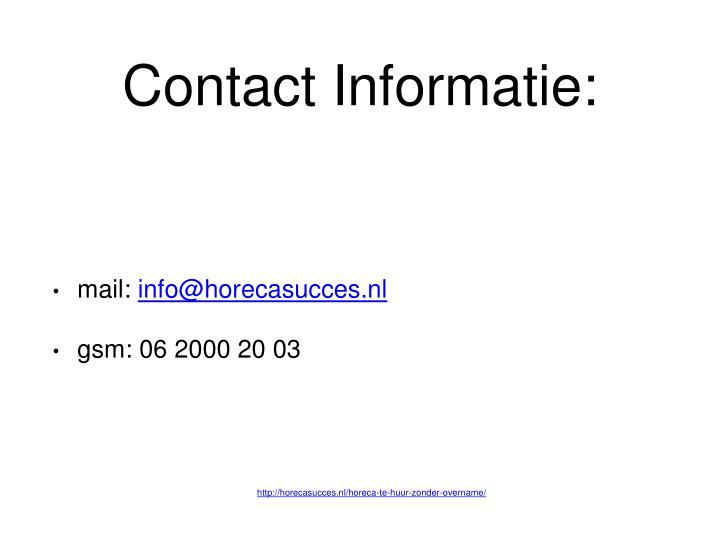 Contact Informatie: