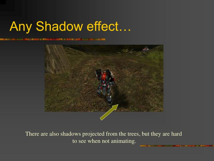Any Shadow effect…