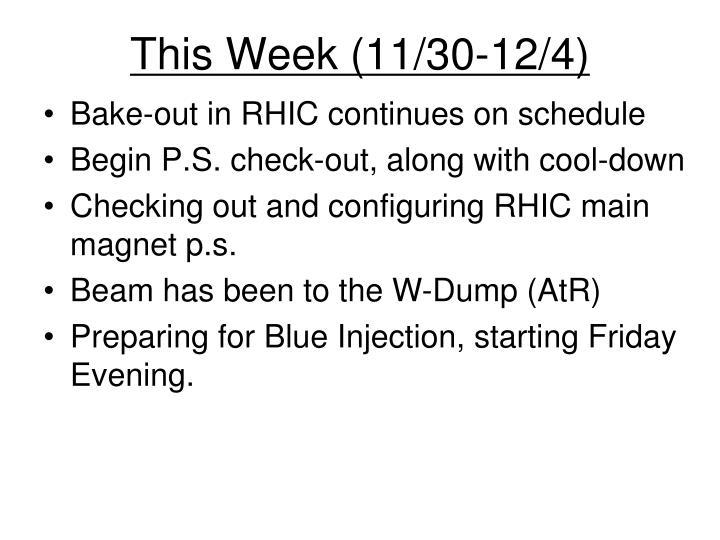 This Week (11/30-12/4)