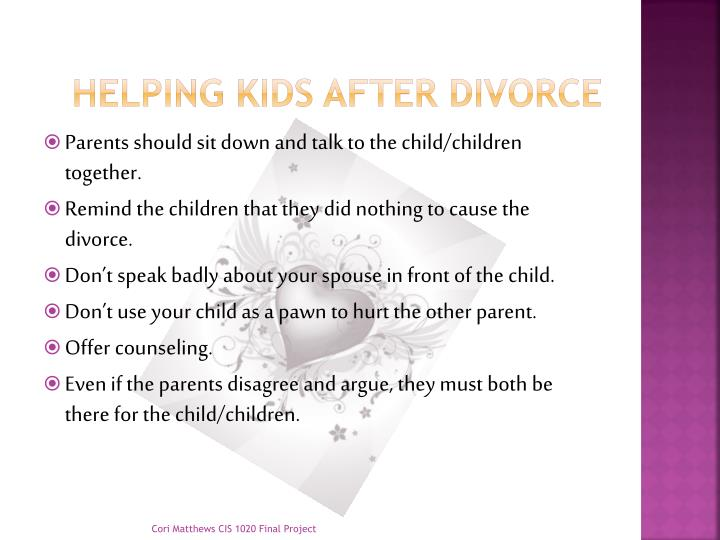 Helping kids after divorce