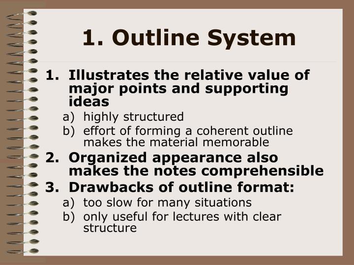 1. Outline System
