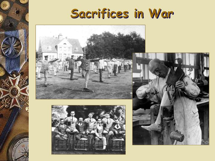 Sacrifices in War