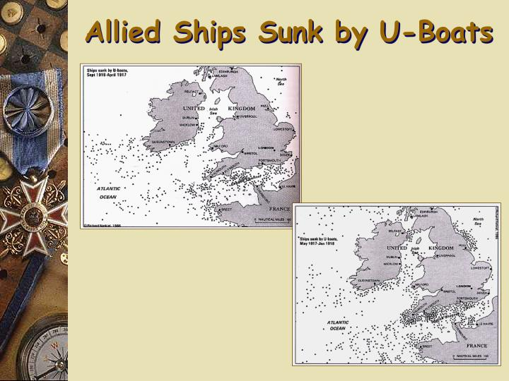 Allied Ships Sunk by U-Boats