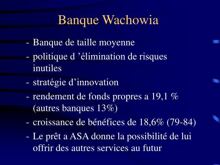 Banque Wachowia