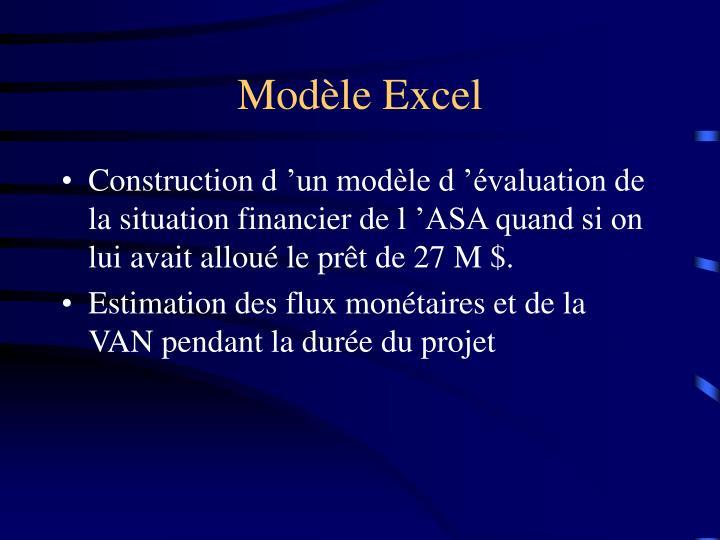 Modèle Excel