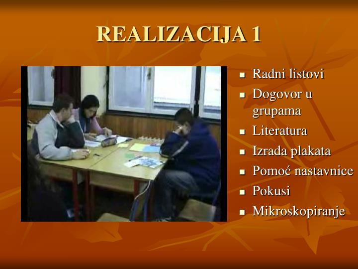 REALIZACIJA 1