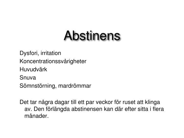 Abstinens