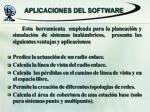 aplicaciones del software