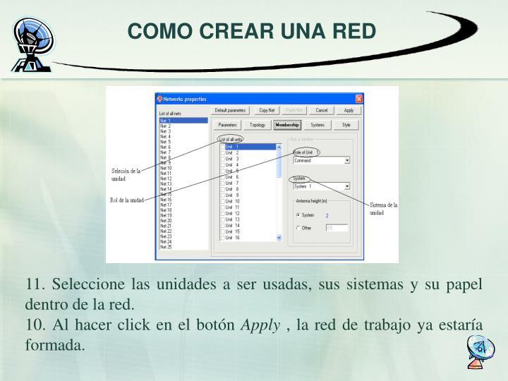 COMO CREAR UNA RED